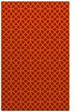 rug #456893 |  orange circles rug