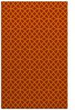 rug #456905 |  red-orange circles rug