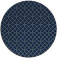 rug #457033 | round blue geometry rug