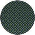 rug #457037 | round blue circles rug