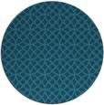 rug #457049   round blue-green circles rug