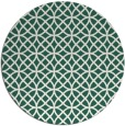 rug #457133 | round green circles rug