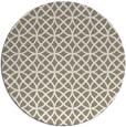 rug #457141 | round white rug