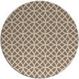 rug #457153 | round mid-brown circles rug
