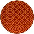 rug #457189 | round red-orange circles rug