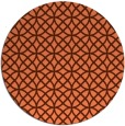 rug #457201 | round red-orange circles rug