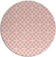 rug #457221 | round white geometry rug