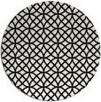 rug #457273   round black circles rug