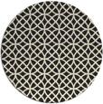 rug #457309 | round black circles rug