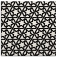 rug #461497 | square white geometry rug