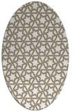 rug #461577   oval white geometry rug