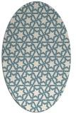 rug #461601 | oval white rug