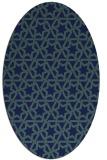 rug #461609 | oval blue popular rug