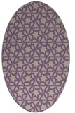 rug #461757 | oval beige geometry rug