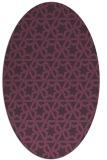rug #461801 | oval purple rug