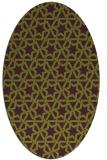 rug #461805 | oval purple rug