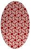 rug #461817 | oval red rug