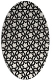 rug #461849 | oval white geometry rug