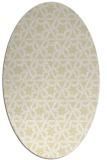 rug #461869   oval white geometry rug