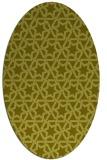 rug #461897 | oval light-green rug