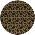 rug #462301 | round black geometry rug