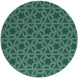 rug #462337 | round blue-green geometry rug