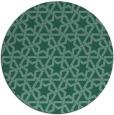 rug #462337 | round blue-green popular rug