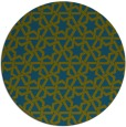 rug #462341 | round green geometry rug