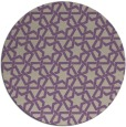 rug #462461   round purple rug