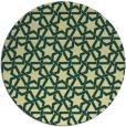 rug #462485 | round yellow popular rug