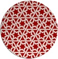 rug #462521 | round red rug