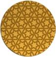 rug #462585 | round light-orange geometry rug