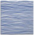 rug #463025 | square blue stripes rug