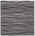 rug #463185 | square red-orange stripes rug