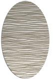 rug #463337 | oval white stripes rug