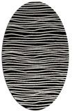 rug #463341 | oval black stripes rug
