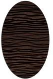 rug #463353 | oval black stripes rug