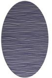 rug #463425 | oval blue-violet stripes rug