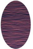 rug #463429   oval blue-violet stripes rug