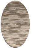 rug #463489   oval beige stripes rug