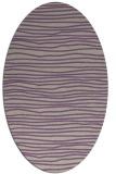 rug #463517 | oval beige stripes rug