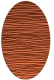 rug #463537 | oval red-orange stripes rug