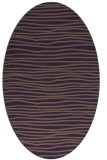 rug #463569 | oval purple rug