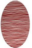 rug #463585 | oval red stripes rug