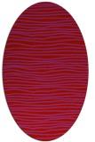 rug #463589 | oval red stripes rug