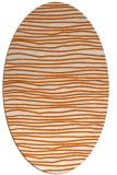 rug #463605   oval red-orange rug
