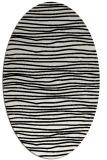 rug #463609   oval white stripes rug