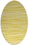 rug #463613   oval white stripes rug