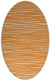 rug #463653 | oval beige stripes rug