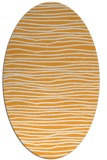 rug #463685 | oval white stripes rug